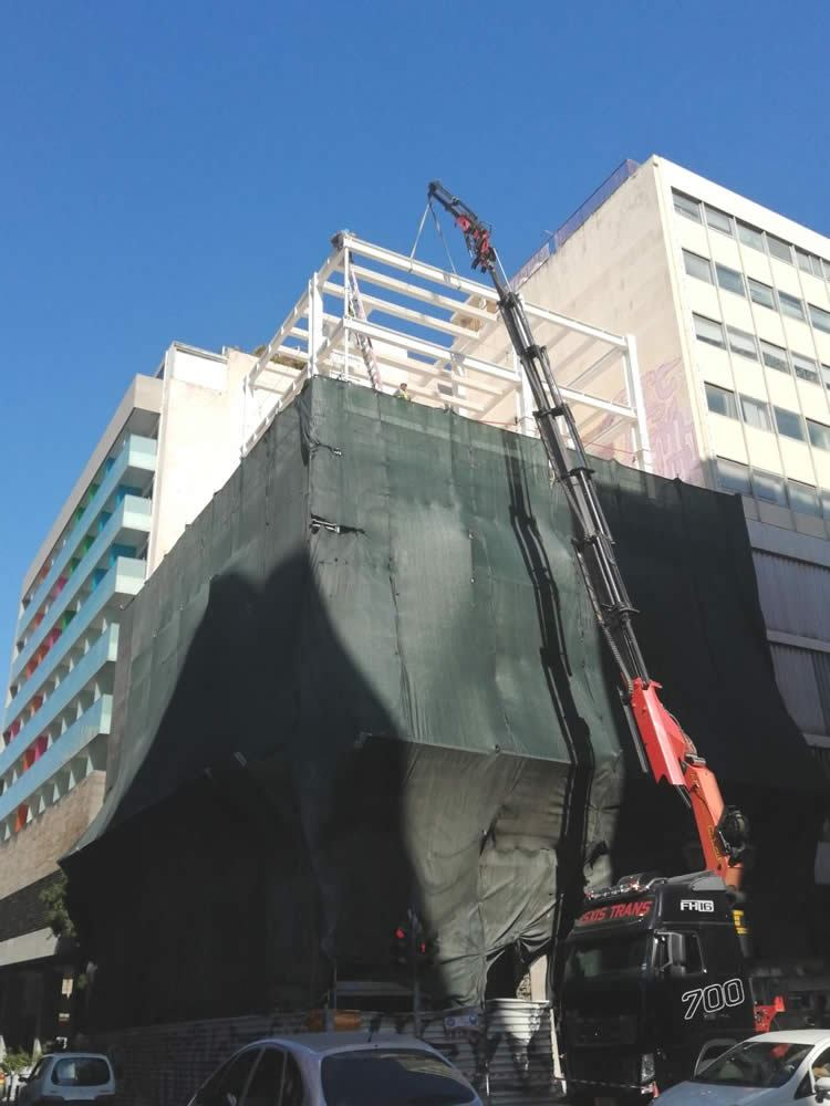 Rehabilitation and height extension of PINDAROS HOTEL in Athens (phase 1)